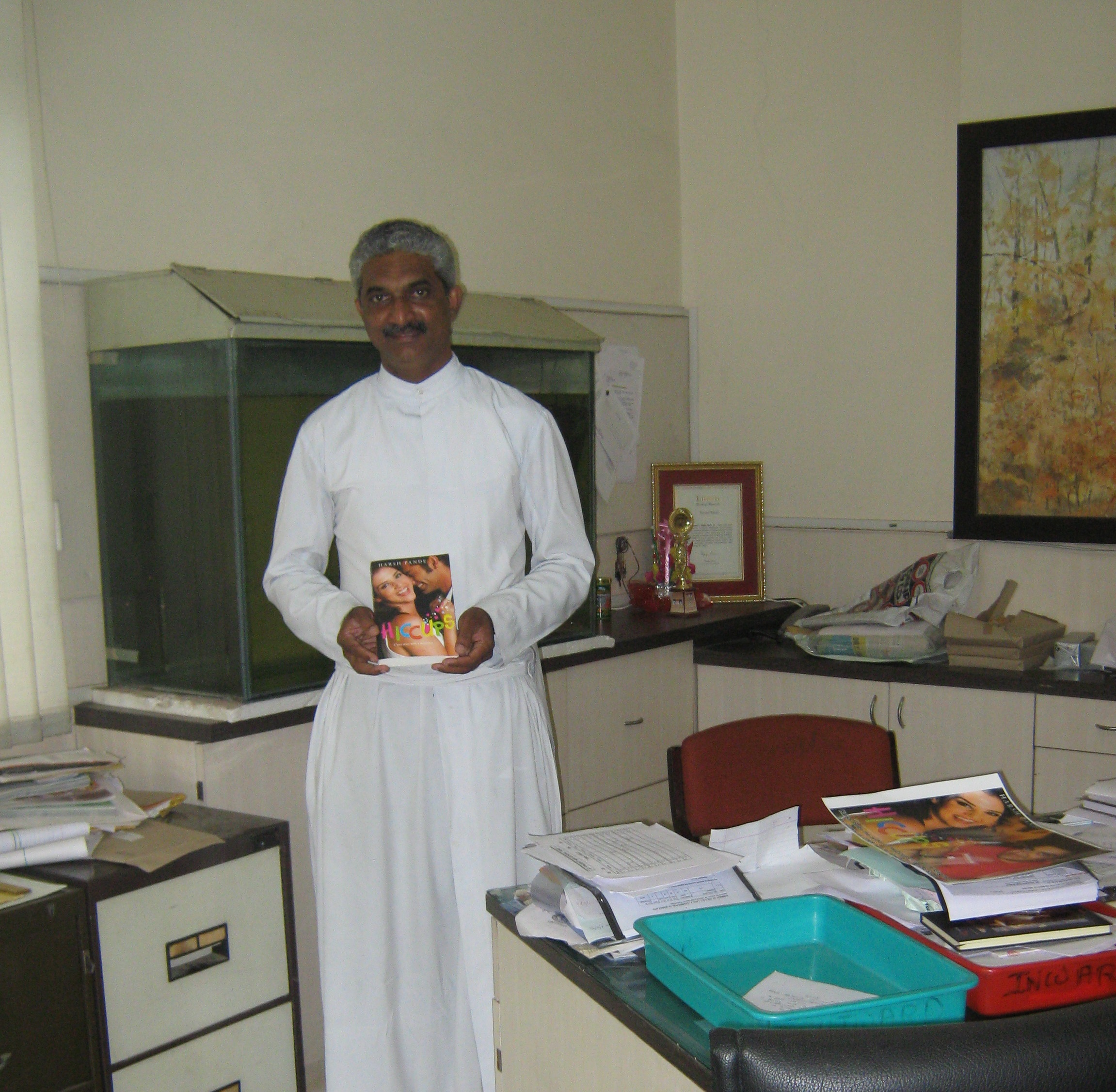 Hiccups Being Received By Fr Andrew Fernandes Principal Of St Vincents High School on Latest Writing A Novel